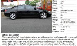 2005 Acura RL 3.5, 126,877  Address: 2756 Atlantic Avenue Brooklyn, NY 11207  View our website: www.sportsandimportsny.com  Notes: Welcome to Sports & Imports Auto ? where we pride ourselves in offering quality pre-owned vehicles at AFFORDABLE PRICES with