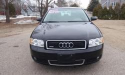 Low Mileage!! 2005 Audi A4 1.8T Sedan Quattro, Black with beige leather interior, automatic, 1.8 liter 4 cylinder turbo, 113k miles, fully loaded with power windows, power locks, power heated mirrors, power heated seats, auto dim mirrors, sunroof,
