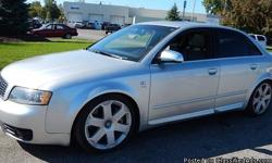 2005 Audi S4 Quattro, 97,633 odometer mileage, VIN# WAUPL68E65A018803, 4.2L 8-Cylinder Engine, Manual 6-Speed Trans, 4-Door, Power Windows, Power Locks, Power Seats, Power Mirrors, Leather Seats, Heated Seats, AM/FM, Cassette, CD Player,