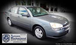 2005 Chevy Malibu LS Sedan   v6, 3.5L automatic alloy wheels am/fm stereo w CD cruise control power door locks rear spoiler air conditioning dual air bags power windows traction control 118k miles   $5995.00   #112357 stk 2650 Visit our
