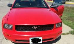 Make: Ford Model: Mustang Year: 2005 Body Style: Convertible Exterior Color: Red Interior Color: Doors: Two Door Vehicle Condition: Excellent  Price: $8,495 Mileage:120,000 mi Fuel: Gasoline Engine: 6 Cylinder Transmission: