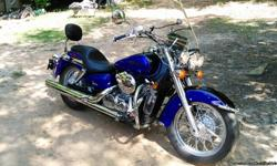 2005 Honda VT750 Shadow Aero, Great Condition Runs Excellent, Good Tires. Comes with: Windshield, Blue Auxiliary Lights, New Saddleman Profiler Seat, New Sissy Bar Backrest with Pad, Hard Saddlebags (still in box), Bike Cover, Single Seat that came with