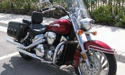Immaculate Honda 1300 VTX for sale. 14,300 miles. Well maintained. I am the original owner and have clear title. This bike is loaded with extras. Pipes, hard saddle bags, chrome, custom wheels, windscreen, engine bars, drivers back