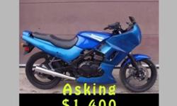 Tri State Towing is Selling a Blue 2005 Kawasaki Ex500d motorcycle With 1,348 miles on it Asking $1,400 or best offer All reasonable offers will be considered  Tri State Towing and Recovery 4140 W. Desert Inn Road Suite #2 Las Vegas, NV 89102