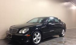 """THIS MERCEDES RUNS GREAT AND LOOKS GREAT! SITS ON BEAUTIFUL 20"""" WHEELS, PERFECT COLOR COMBO BLACK ON BLACK! INTERIOR LOOKS PERFECT! THIS IS THE KOMPRESSOR SPORT SEDAN! THIS IS ONLY A 4 CYLINDER CAR! MOON ROOF! 6 CD CHANGER! CD PLAYER! HARMAN KARDON SOUND"""