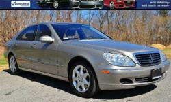 2005 MERCEDES BENZ S-430 4 MATIC Stunning Condition Inside and Out! Only 84k Miles! AWD V8 Automatic Transmission Factory Navigation! Power Moonroof Heated and Cooled Seats! Premium BOSE Sound Heated Steering Wheel Alloy Wheel Package! Factory