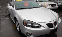 2005 Pontiac Grand Prix GT Exterior color: Galaxy Silver Metallic Interior color: Dark Pewter Engine: 3.8L V6 FI Transmission: Automatic w/ overdrive Mileage: 120,490 Title: Clean EPA MPG: 20 city / 31 hwy Options: Power windows, mirrors and locks, alloy