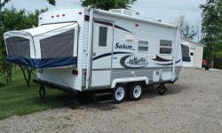 Price: $4200 -- Great condition, everything works --2005 Salem 19EX Travel Trailer Camper-- Contact me through contact seller button for more photos and vehicle location.