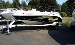 2005 Seadoo Sportster, fiberglass hull, jet propulsion, low low hours, in excellent condition, 15 feet in length. Boat is totally clean, comew with AM.FM radio and IPOD docking station. Text with any questions you may have!