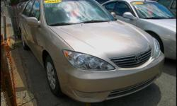 2005 Toyota Camry LE Exterior / interior color: Desert Sand Mica / Dark Charcoal Engine: 2.4L L4 FI DOHC 16V Transmission: Automatic w/ overdrive Mileage: 95,835 Title: Clean EPA MPG: 24 City / 34 Hwy Options: Power windows, locks and mirrors, power