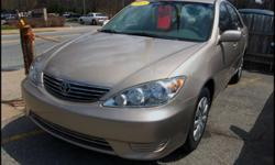 2005 Toyota Camry LE | WWW.CARLOSAUTOSALES.NET | Mileage: 95,835 | Exterior / interior color: Desert Sand Mica / Dark Charcoal | Engine: 2.4L L4 FI DOHC 16V | Transmission: Automatic w/ overdrive | Title: Clean | EPA MPG: 24 City / 34 Hwy | Options: Power