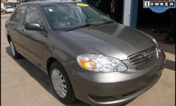 2005 Toyota Corolla CE One Owner Exterior / interior color: Phantom Gray Pearl / Light Gray Engine: 1.8L L4 FI DOHC 16V Transmission: Automatic w/ overdrive Mileage: 79,684 Title: Clean EPA MPG: 32 City / 41 Hwy Options: Power mirrors, AM-FM-CD, A/C,