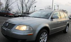 LOW MILES 42,000 2005 VW PASSAT WAGON. ALL WHEEL DRIVE 4 MOTION, TURBO 4 CYLINDER ENGINE. LOOKS ANDDRIVES LIKE NEW. COLOR METALLIC SILVER WITH BLACK LEATHER INTERIOR. EXTRA CLEAN INTERIOR WITH HEATED SEATS, CLEAR TITLE. CALL FOR MORE INFORMATION.