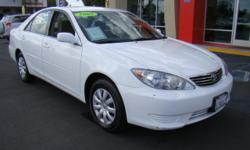 Toyota's most popular and reliable car, the Camry is inspected, detailed, and loaded for you! Enjoy the comfortable seating in this mid-size car, the power driver's seat, the power windows, the power locks, the power mirrors, automatic, cruise control,