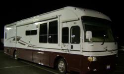 NICE USED 49,000 MILES 40 MOTOR COACH LEATHER 2 TV,S CAT DIESEL, DIESEL GENERATOR,POWER LEVELING SYSTEM, LOADED , 3 SLIDES, WITH POWER AWNINGS, BOOKS AND RECORDS SELLING WITH REASONABLE OFFER , MUST GO . 334 794 0492..