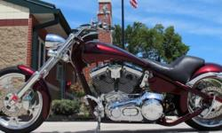 2006 American Ironhorse Tejas. This Is A Two Owner Masterpiece With Only 2,488 Miles. This Bike Has An Completely Stock Unmodified Engine And Drive Train! A COMPLETE CRUISING DREAM!! Finished Perfectly With Tasteful All High Gloss Burgundy Flake Paint,