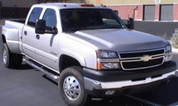 2006 Chevrolet Silverado 2500HD, Crew Cab, LT, Dually, Short Bed, ONLY 25,000 Miles, V8 6.0L, 2wd, Automatic. It?s a beautiful truck that looks and runs like new with super LOW miles. It has been converted into a dually, and it has towing package in