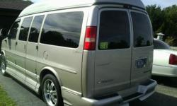 2006 chev. limeted explorer High boy custom van silver tan color all lether inside 6 capt. chairs 20in tv screen DVD only 64000.miles lady owned lots of storage back up camera . starting price 14000. OBO see to appriciate call 3174147856