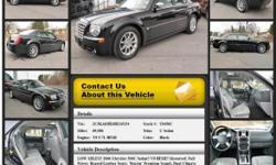 Chrysler 300 C Sedan Automatic 5-Speed Black 69086 V8 5.7L HEMI2006 Sedan Crossroads Ford 518-756-4000