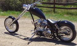 Beautiful custom chopper. S&S 120 cu. in. motor., 6 speed tranny. Very low millage. To much to list.