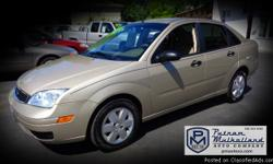 2006 Ford Focus ZX4 SE Sedan  5 speed manual transmission air conditioning cruise control am/fm stereo w CD dual air bags power steering power door locks power