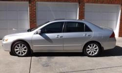 2006 Honda Accord EX-L V-6 four door sedan, excellent condition and clean, well maintained, silver exterior with black interior, am/fm/satellite radio with 6-disc player, low maintenance costs, good tires, great car for commuting or for