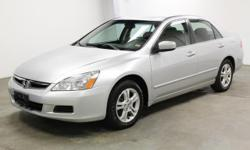 2006 Honda Accord EX V-6 sedan is Perfect for you and your family as well as a student car! Navigation! Sunroof! Plush leather seats! Heated seats! CD player! Tinted windows! Ice coldAC!! Power windows! Power seats! Power mirrors! Steering wheel mounted