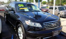 Welcome 562 Auto Exchange **13110 Lakewood Blvd Bellflower CA 90706** Come and take a look at this black 2006 Infiniti FX35 stock# 106206, black interior, ABS, A/C, CD player, CD changer, navigation system, back-up camera, power door locks, power