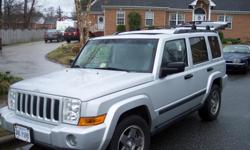 JEEP COMMANDER 4X4 WITH V6 ENGINE AND ONLY 117,000 MILES. HAS THIRD ROW SEATING, SKY WINDOWS OVER CENTER SEAT AREA. LUGGAGE RACK AND TRAILER HITCH. LEATER, HEATED SEATS, FRONT SEATS BOTH HAVE POWER, GOODYEAR TIRES LIKE NEW.