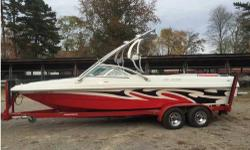 Boat is in Birmingham, Alabama. Boat has new motor, installed by MB, with 60 hrs. Boat is near perfect condition, hull and interior. Three ballast port, starboard, bow individual controlled to fine tune for wake boarding or top them off for a massive surf
