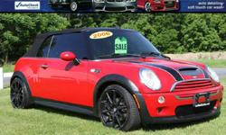 2006 MINI COOPER S 6 SPEED CONVERTIBLE! FAST AND FUN! FACTORY SUPERCHARGED! Manual Shift! Heated Black leather Seats Upgraded Aftermarket Alloys with Great Tires! Power Black Top Power Windows/Locks and Mirrors! Red Exterior VIN WMWRH33526TF87060 BANK