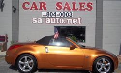 2006 NISSAN 350Z GT ROADSTER ORANGE WITH BLACK LEATHER INTERIOR, 6 SPEED MANUEL TRANSMISSION ,NAVIGATION , VERY SPORTY CONVERTIBLE! PLEASE CALL FOR APPOINTMENT 210-804-0003 OR GO TO WWW.SAAUTO.NET ASK FOR MIKE OR STEVE