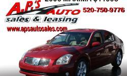 CLICK HERE FOR MORE INFO: http://www.apsautosales.com/vehicle-details/d952b72345d849c1b267ab2f8f21f3d6 (520) 750-9776 A.P'S Auto Sales 3747 E. Speedway Blvd. Tucson, AZ 85716  2006 Nissan Maxima 4-Door Sedan Title: Clear VIN: 1N4BA41E86C806057 Fuel: