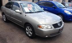 2006 Nissan Sentra - Only 67k Miles WOW! 1.8L 4 cylinder - 28Mpg city / 35Mpg highway Auto, Cold A/c, Windows just Tinted, Loaded Power windows, locks, mirrors, Premium sound Am/Fm/Cd, Clean in & out, inspects great Clean carfax, good tires & brakes.