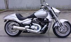 I currently have a 2006 Suzuki M 109-R for sale. This bike is a platinum silver with alot of chrome accent. The bike only has 19,610 miles on it. The motor is of course an 1800cc V-Twin that is fuel injected, liquid cooled and shaft drive with a 6 speed