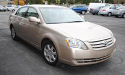 2006 Toyota Avalon XL - http://www.findyournewcar.com/2006_Toyota_Avalon_Oneonta_NY_960358.veh Mileage: 85000 MPG: 20 City/28 Hwy Engine: 3.5L V6 ABS Brakes,Air Conditioning,Alloy Wheels,AM/FM Radio,Automatic Headlights,Cassette Player,CD Player,Child