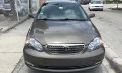 05 TOYOTA COROLLA S!!!!!4 CYLINDERS, AUTOMATIC TRANSMISSION, COLD A/C, GOOD CONDITIONS, C/D , PLAYER , 107,000 MILEAGE, 4 DOORS.