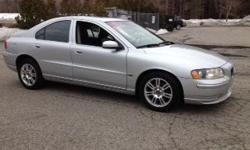 2006 Volvo S60 2.5T AWD, Silver with black leather interior, automatic with winter mode, 190kmiles, power windows, power locks, power heated mirrors, power heated memory seats, alloy wheels, tilt, cruise, sunroof, A/C, climate control, headlamp washers,