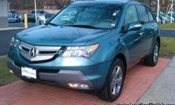 2007 ACURA MDX with ALL-WHEEL DRIVE | Steel Blue Metallic with Black Leather Interior | Named a Consumer Guide 2006 & 2005 Best Buy, the Acura MDX was named a Contender in Motor Trend's Sport/Utility of the Year 2007! It was an Edmund's Editor's Most