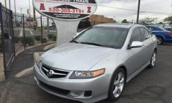 Silver 2007 Acura TSX for sale in Tucson, AZ. 93,000 miles, black interior, automatic 5-speed. For more information on this vehicle and to see the rest of our available vehicles visit our website at www.azdrivellc.com.