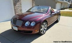 2007 Bentley Continental GTC Convertible For Sale in Des Moines, Iowa 50265 If you are looking for top of the line luxury, style, and class then look no further because this 2007 Bentley Continental GTC Convertible is the one for you! This
