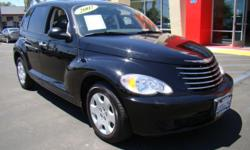 Immaculate PT Cruiser in jet black with only 52000 miles! Comes standard with a 2.4L 4 cylinder engine, power windows, power locks, tilt, ample seating for 5, fold down/tumble forward back seats, CD player and stereo, heat and air conditioning, power