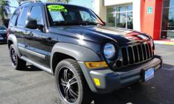 "You will LOVE this Jeep -- all the ruggedness and adventure that you already want in a Jeep yet refined in appearance! Running on an efficient v6 engine and automatic transmission, this Jeep comes with 20"" custom black wheels, cruise control, tinted"