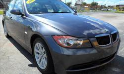 Details Stock # X80087 VIN WBAVA33527KX80087 Year 2007 Make BMW Model 3 Series Trim 328i Cylinders 6 Fuel Gasoline Fuel Mileage 94250 Exterior Color Grey Interior Color Black Style 4 Door Sedan New/Used Used Price $14,995.00 $13,995.00? Click Here to