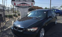Black 2007 BMW 328i for sale in Tucson, AZ. 122,000 miles, black interior.