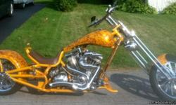 """2007 Bourget Python 330 Limo """"Super Stretch""""  ONE-OF-A-KIND Custom Chopper produced by Bourget Bike Works. Although this is a production bike, each one is customized by the buyer to make it unique and I have never seen any two Bourget's alike. There"""