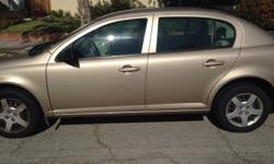 2007 beige chevy cobalt Great condition 95,000 miles Great air conditioning/heating Stereo/cd player Automatic Only drawback is no power windows or door locks.