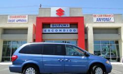 COME DOWN TO SUZUKI OF ESCONDIDO AND CHECK OUT OUR SELECTION OF TOWN & COUNTRY MINI VANS! OUR 2007 ONLY HAS 28,859 MILES ON IT! WE ALSO HAVE A 2004 LIMITED WITH SUN ROOF AND A 2003 LXi WITH DVD SYSTEM. Type: Used Bodystyle: Passenger Engine: V6, 3.3