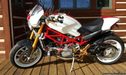 """2007 Ducati Monster S4RS. Collectors bike in """"like new"""" condition with only 519 miles. Upgrades including Rizoma, Speedy Moto, Sato Racing & carbon exhaust. Title, factory manuals & """"Red Key"""" in Sellers possession. This Ducati is one of a"""
