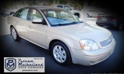 2007 Ford Five Hundred SEL Sedan  v6, 3.0L automatic premium wheels 4 door sun roof side air bags tilt wheel air conditioning dual air bags leather seats power door locks power windows am/fm stereo w cd cruise control dual power seats 105k miles